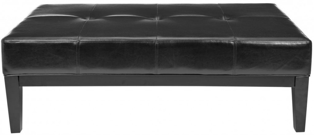 Safavieh Hudson Collection Bleecker Black Leather Cocktail Bench