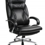 VIVA OFFICE 350lbs Capacity Big & Tall High Back Swivel PU Leather Office Chair