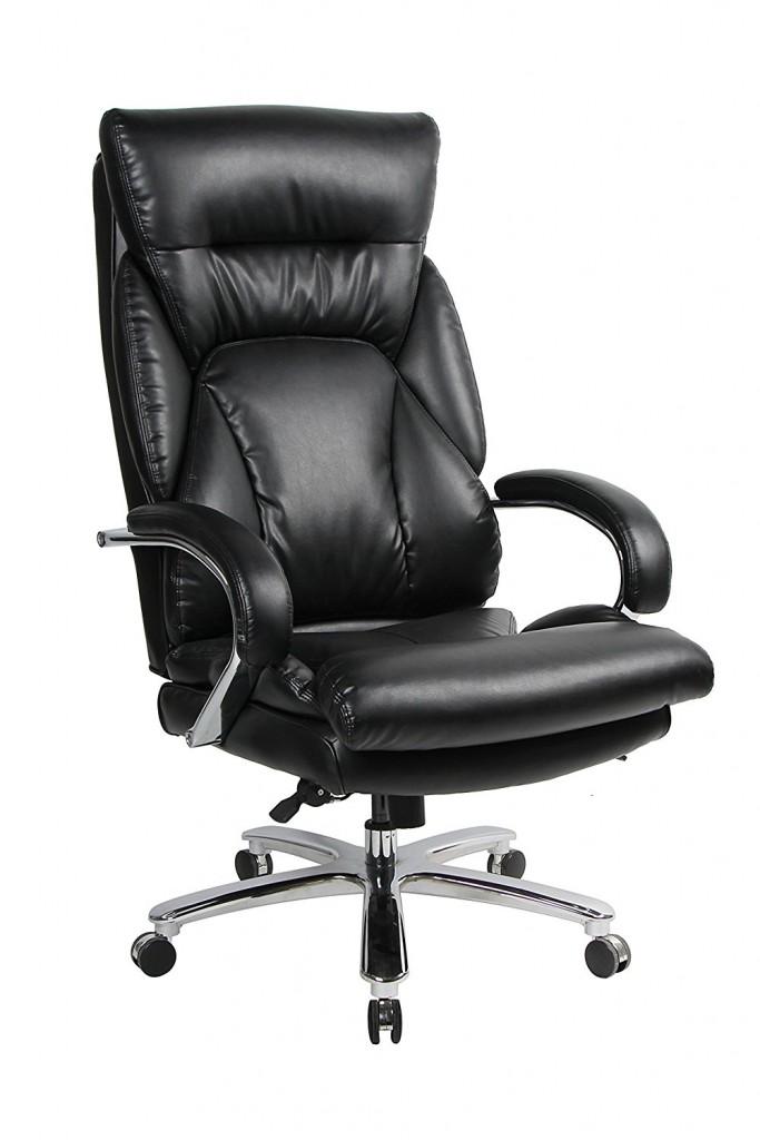 VIVA OFFICE 350lbs Capacity Big & Tall High Back Swivel PU Leather Office Chair