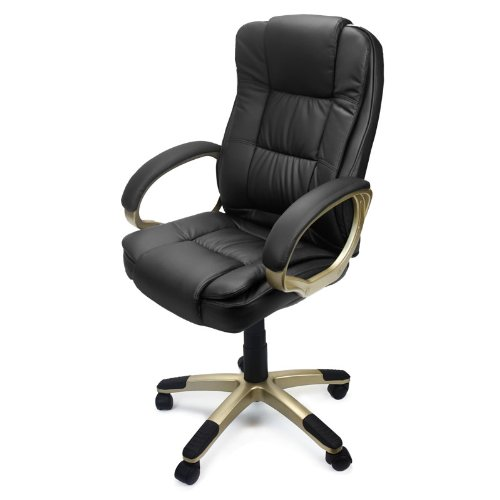 XtremepowerUS PU Leather Executive Office Desk Task Computer Boss Executive Luxury Chair
