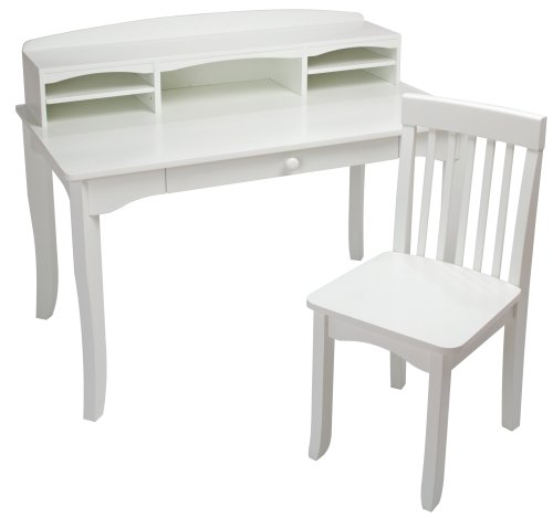 Kidkraft Avalon Desk With Hutch White 26705
