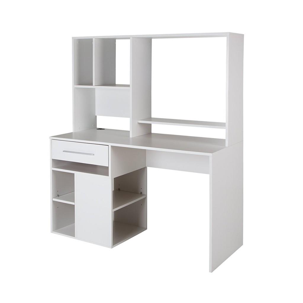 White Computer Desk With Hutch