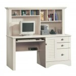 White Desk With Hutch