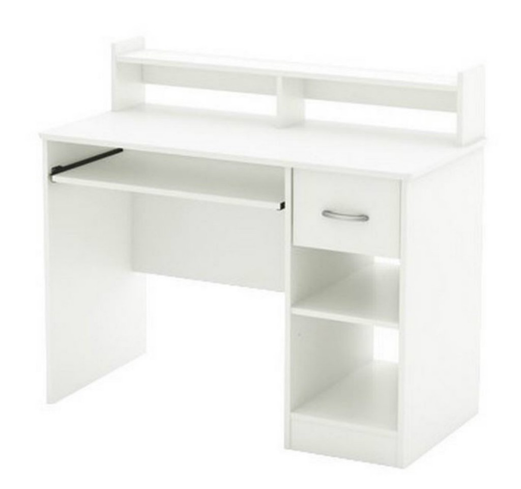 White Desk With Hutch And Drawers