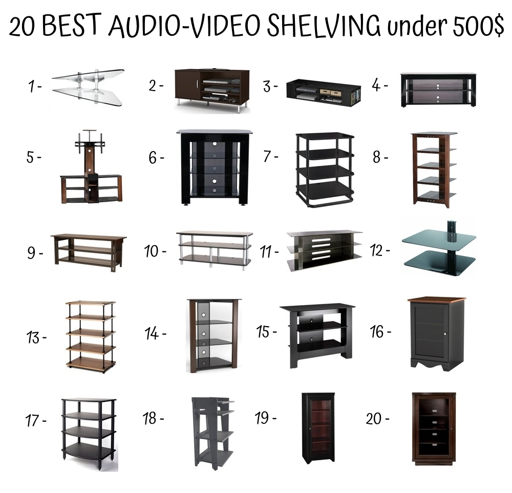 20 Best Audio Video Shelving Under 500$