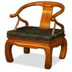 Hand Crafted Rosewood Chow Leg Monk Chair