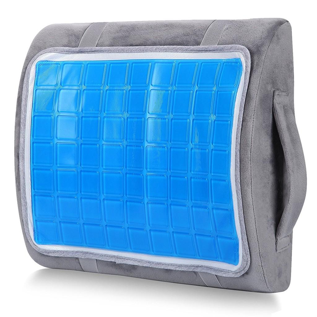 Grey Lumbar Pillow
