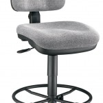 Alvin CH444 60DH Medium Gray Premo Drafting Height Ergonomic Chair