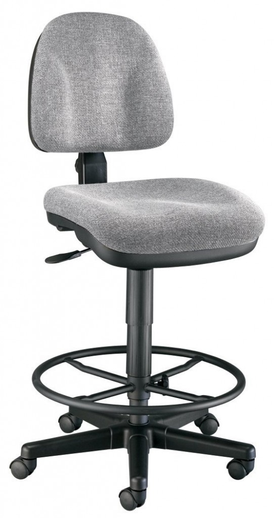 Alvin CH444 60DH Medium Gray Premo Drafting Height Ergonomic Chair