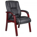 Boss Mid Back Guest Chair Mahogany