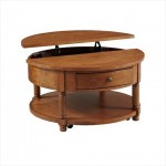 Broyhill Attic Heirlooms Round Lift Top Cocktail Table