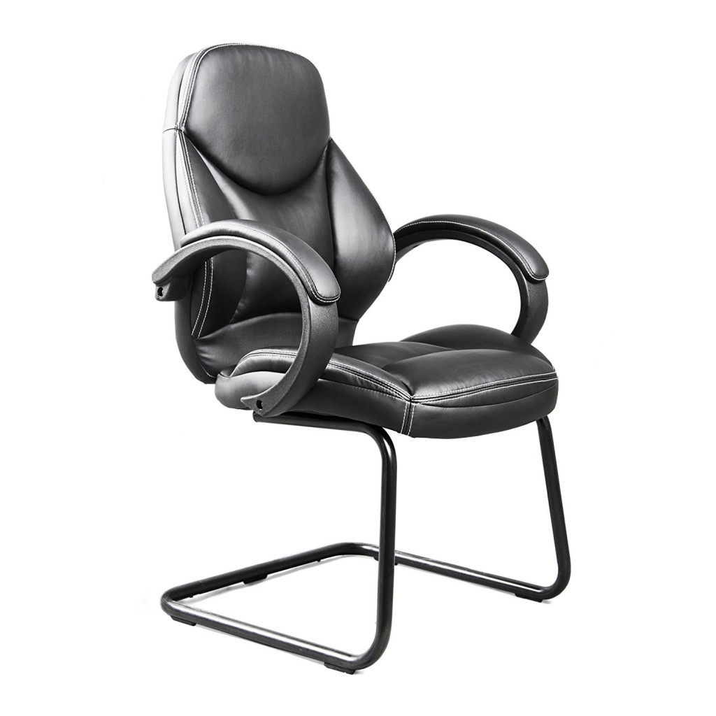 CorLiving WHL 400 C Bonded Leather Office Guest Chair