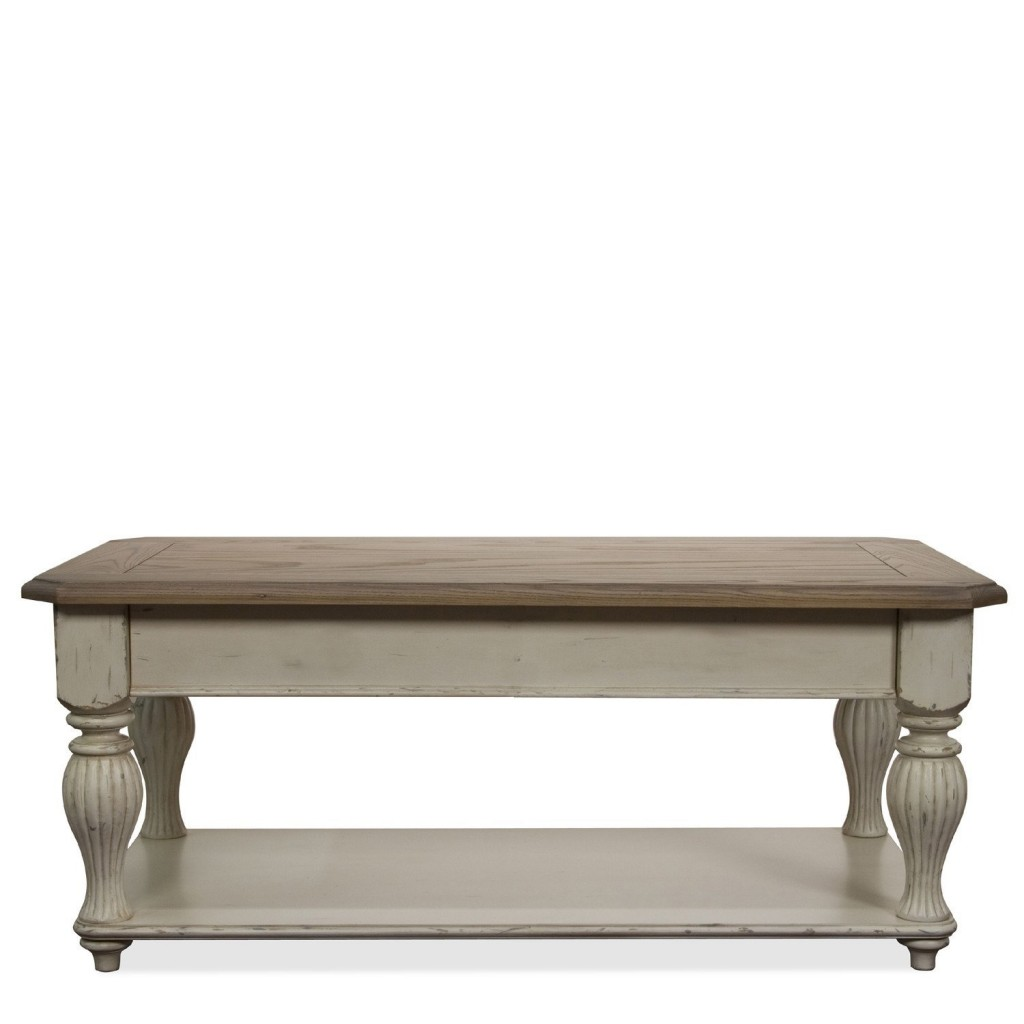 Coventry Two Tone Lift Top Rectangular Cocktail Table