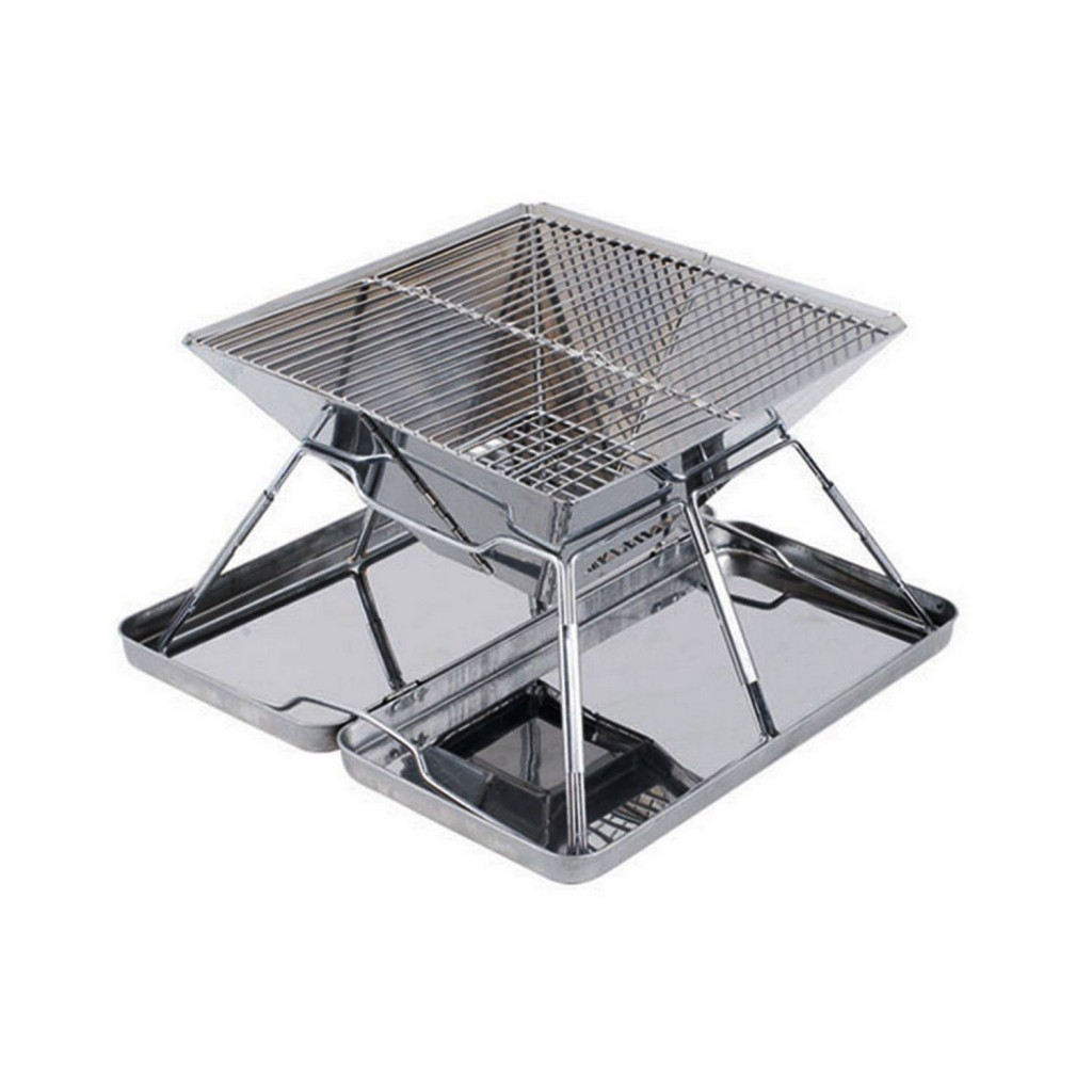 Elemart Stainless Steel Folding Charcoal Barbeque Grill