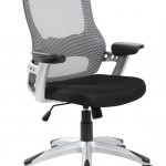 EuroStile Black And White Mid Back Office Computer Task Mesh Chair