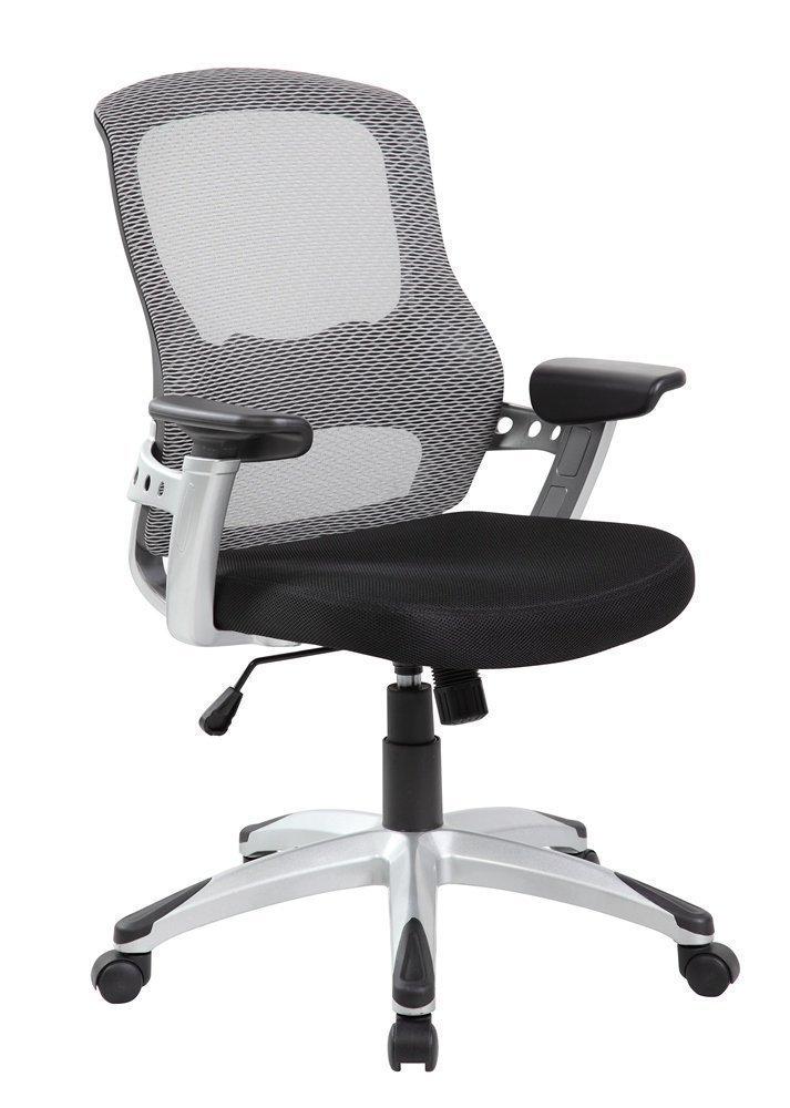 EuroStile Black And White Mid Back Office Computer Task Mesh Chair
