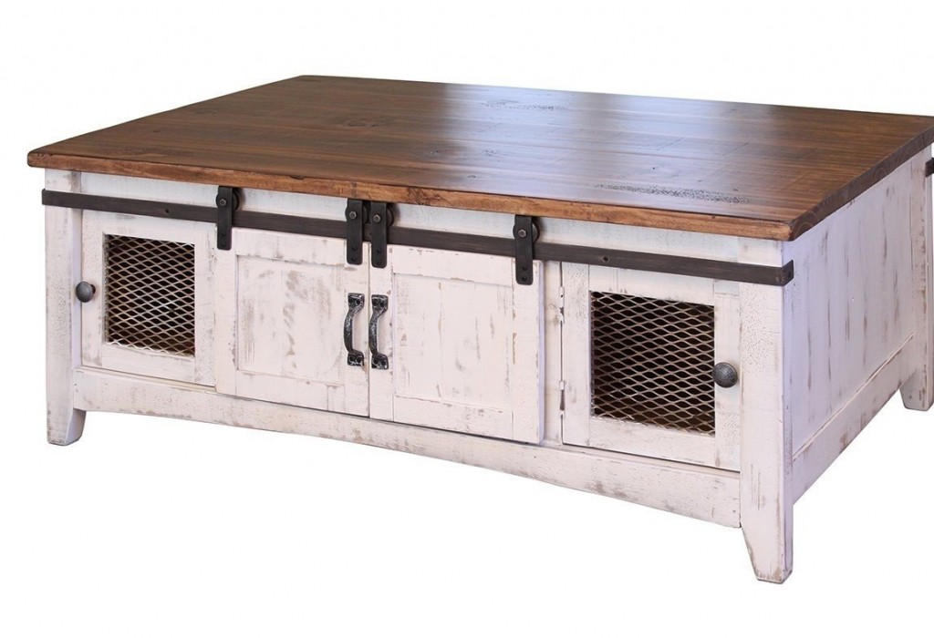 Greenview White Solid Pine Coffee Table