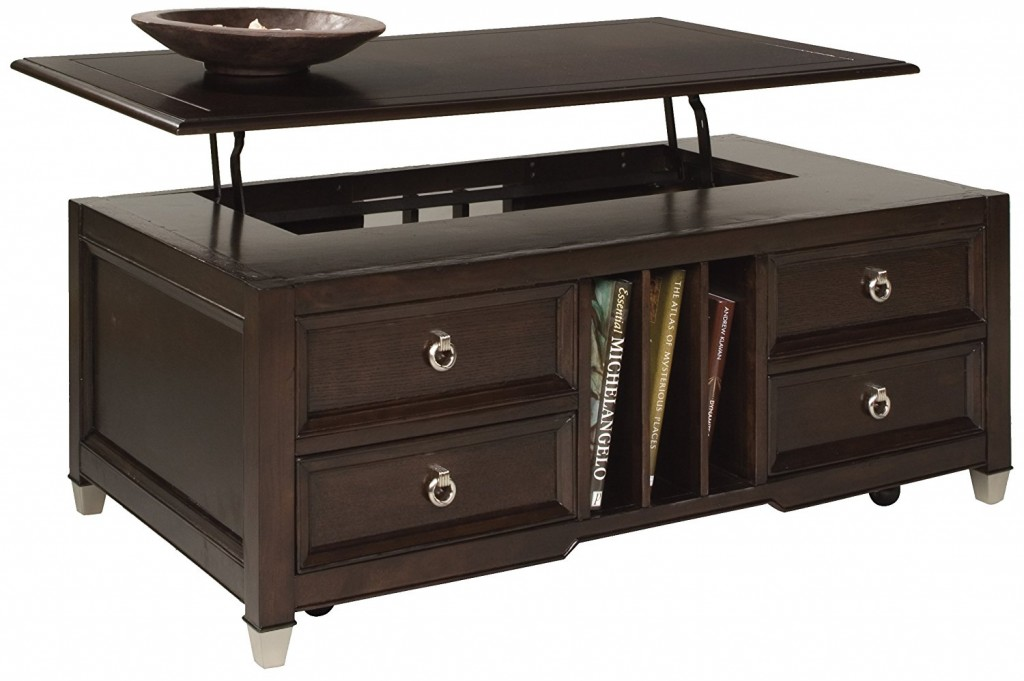 Magnussen Darien Wood Lift Top Cocktail Table