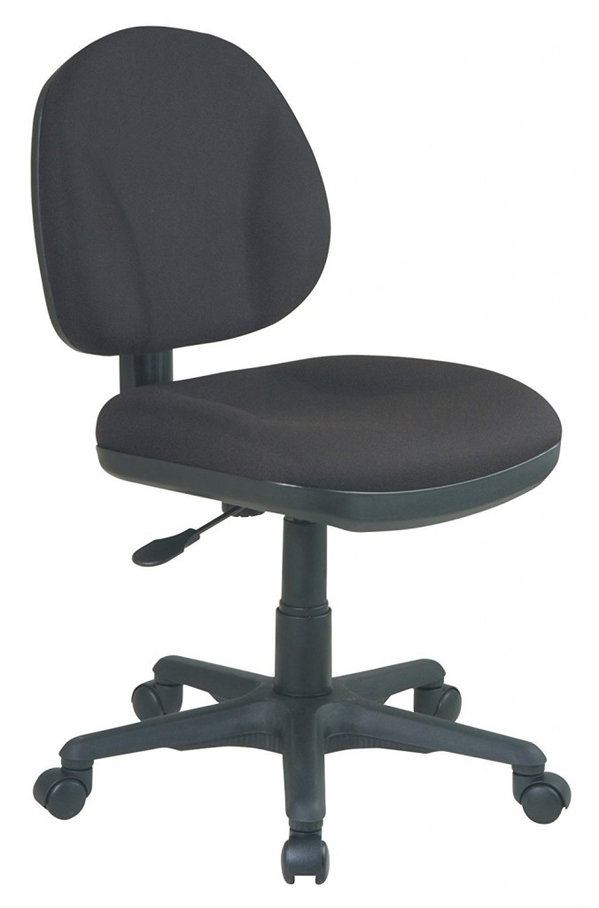 Office Star Sculptured Thick Padded Seat And Back With Built In Lumbar Support Task Chair