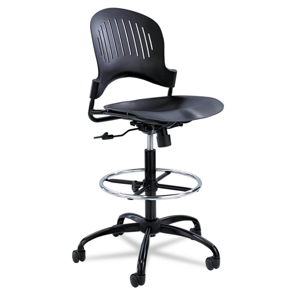 Safco Products 3386BL Zippi Plastic Extended Height Chair