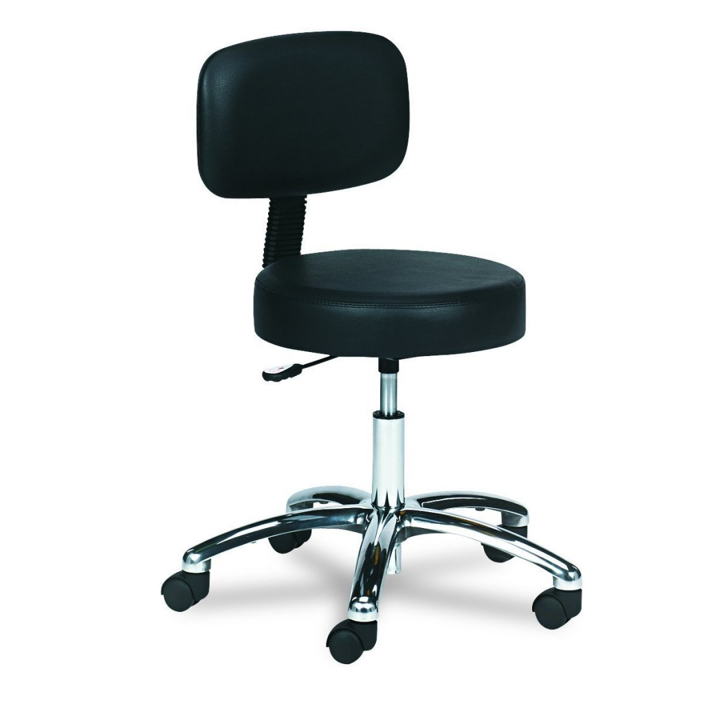 Safco Products 3430BL Lab Stool With Back