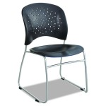 Safco Products 6804BL Reve Guest Chair Sled Base With Round Back