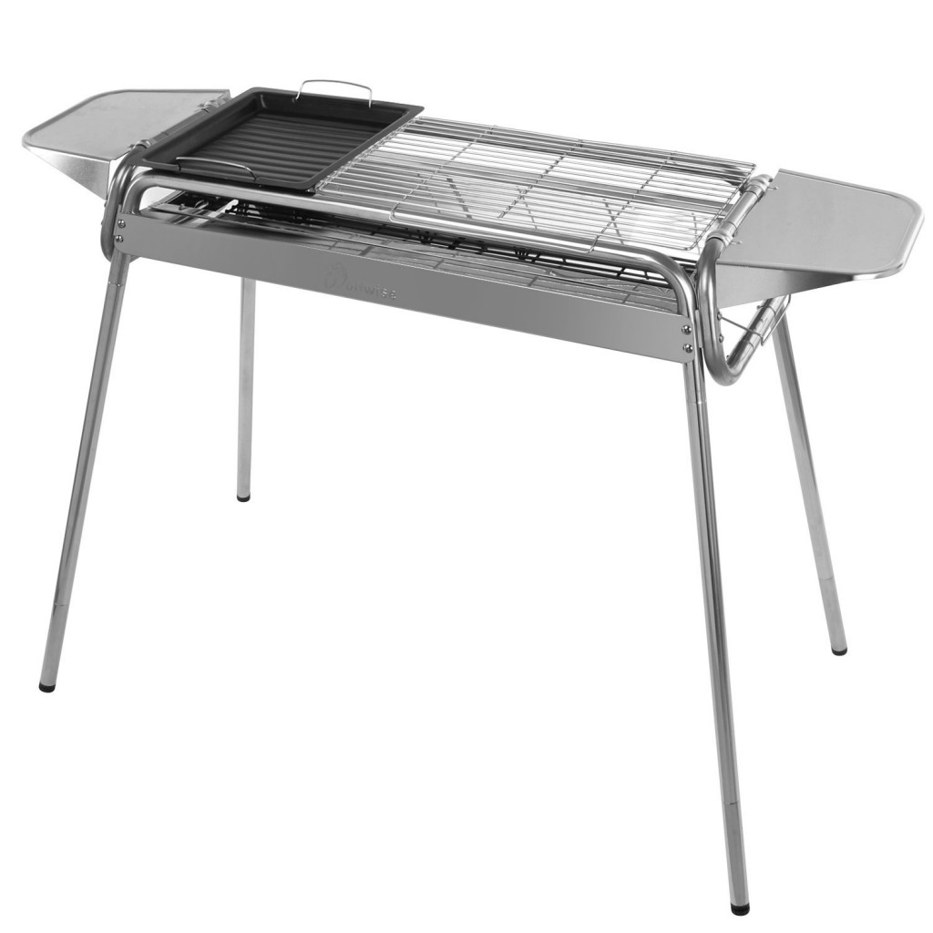 WolfWise Portable Folding Stainless Steel Charcoal Grill