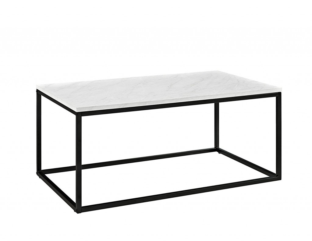 Marble And Wood Coffee Table
