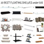 20 Best Floating Shelves Under 50$