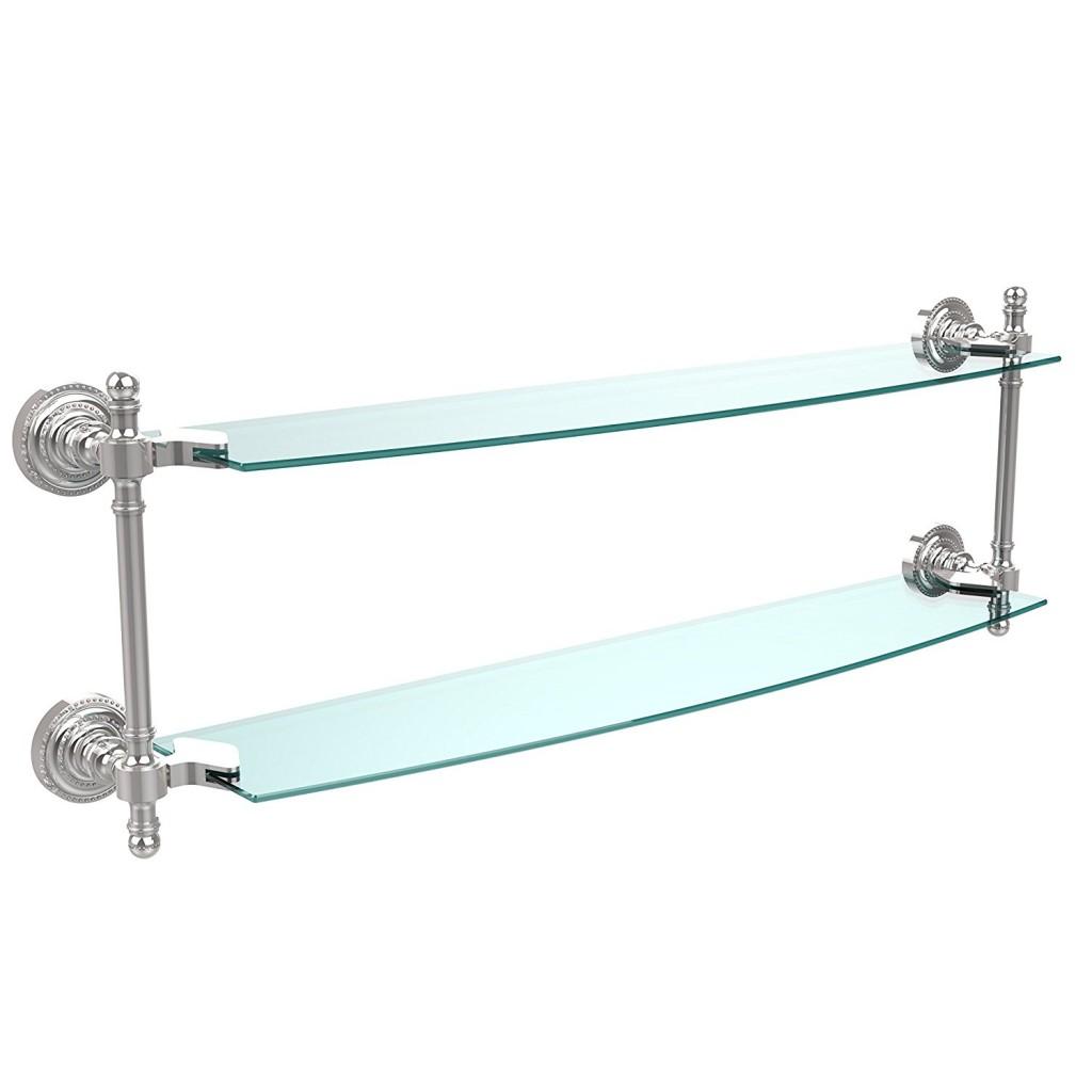 Allied Brass RD 34 18 SCH 18 X 5 Double Glass Shelf