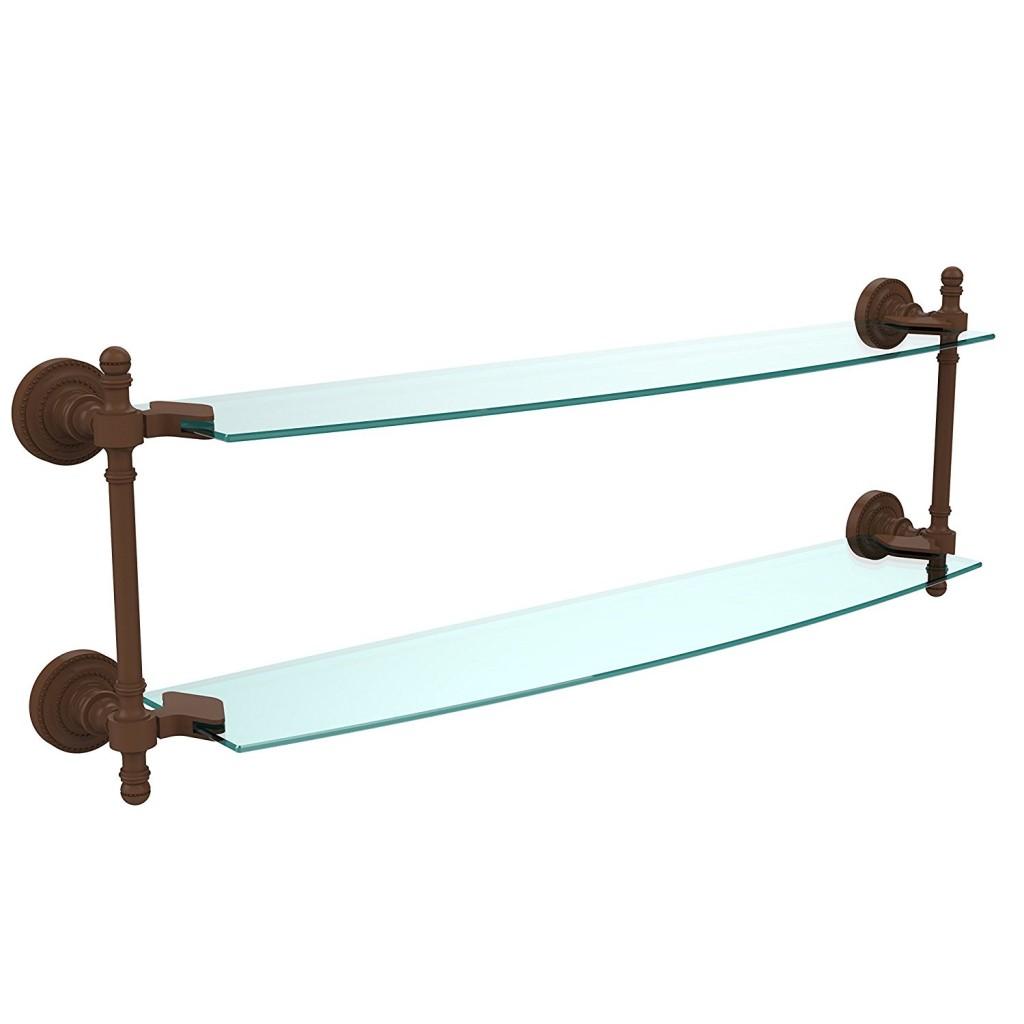 Allied Brass RD 3424 CA 24 X 5 Double Glass Shelf