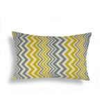 Domusworks Chevron Lumbar Pillow