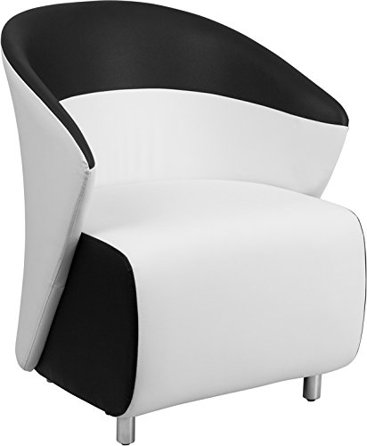Flash Furniture Melrose White Leather Lounge Chair