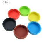Generic Eco Friendly Colorful Premium Silicone Rubber Heat Resistant Round Design Outdoor Home Ashtray