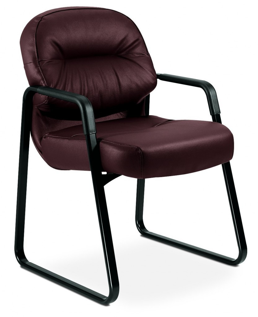 HON H2093.SR69.T Pillow Soft Leather Guest Chair