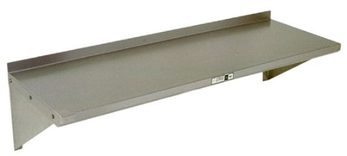 John Boos 18 Gauge Stainless Steel Wall Shelf, 96 X 16 Inch 1 Each.