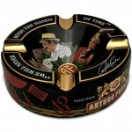 Limited Edition Large 8.75 Arturo Fuente Porcelain Cigar Ashtray Black