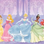 RoomMates JL1226M Disney Perfect Princess 6 Foot By 10.5 Foot Prepasted Wall Mural