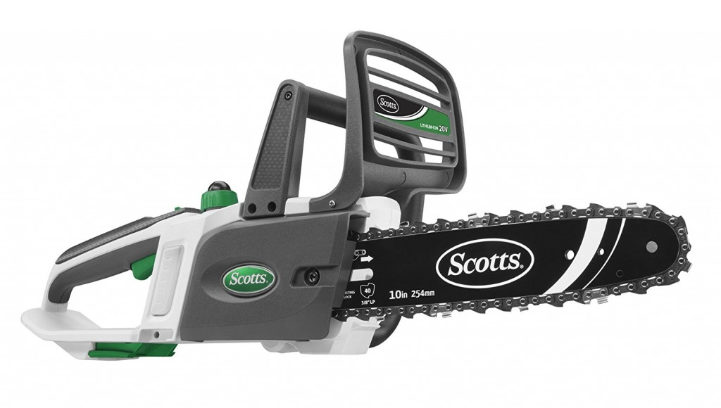 Scotts S20510 20 Volt SYNC Lithium Ion Cordless Chainsaw