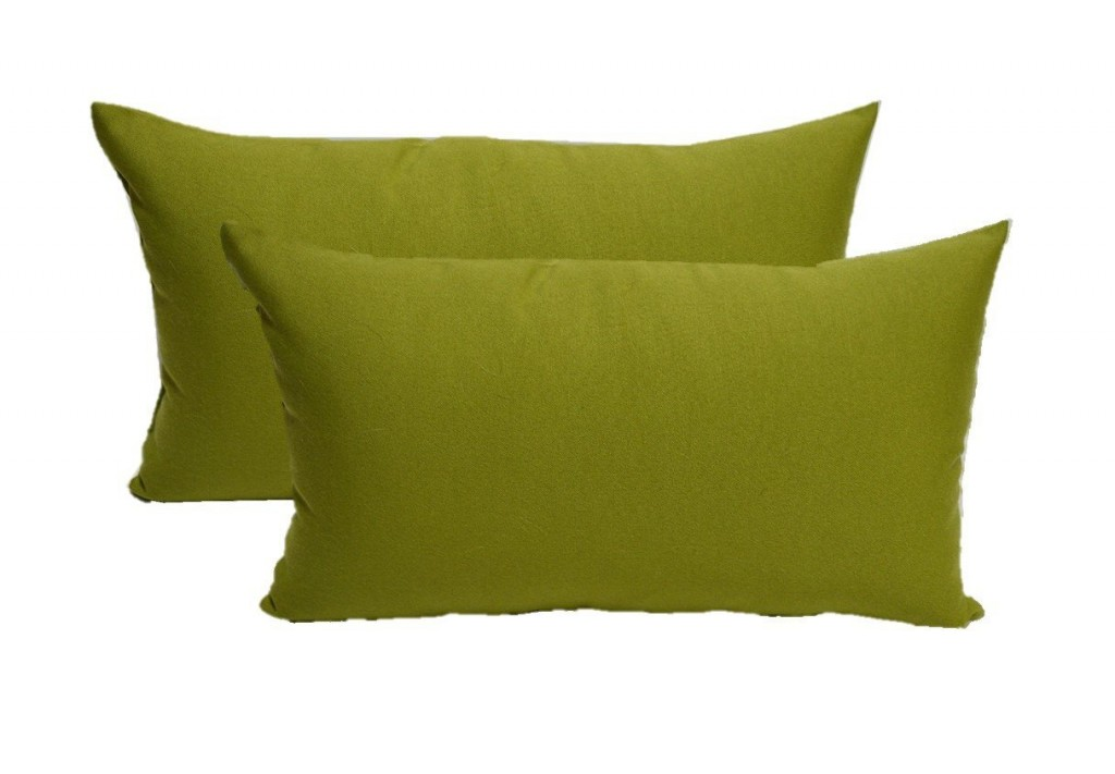 Set Of 2 Indoor Outdoor Decorative Lumbar Rectangle Pillows