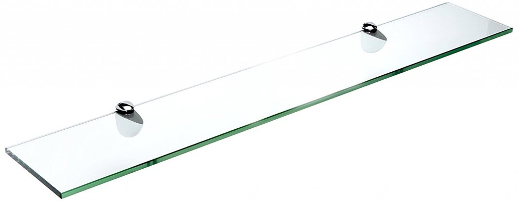 Spancraft Glass Peacock Glass Shelf