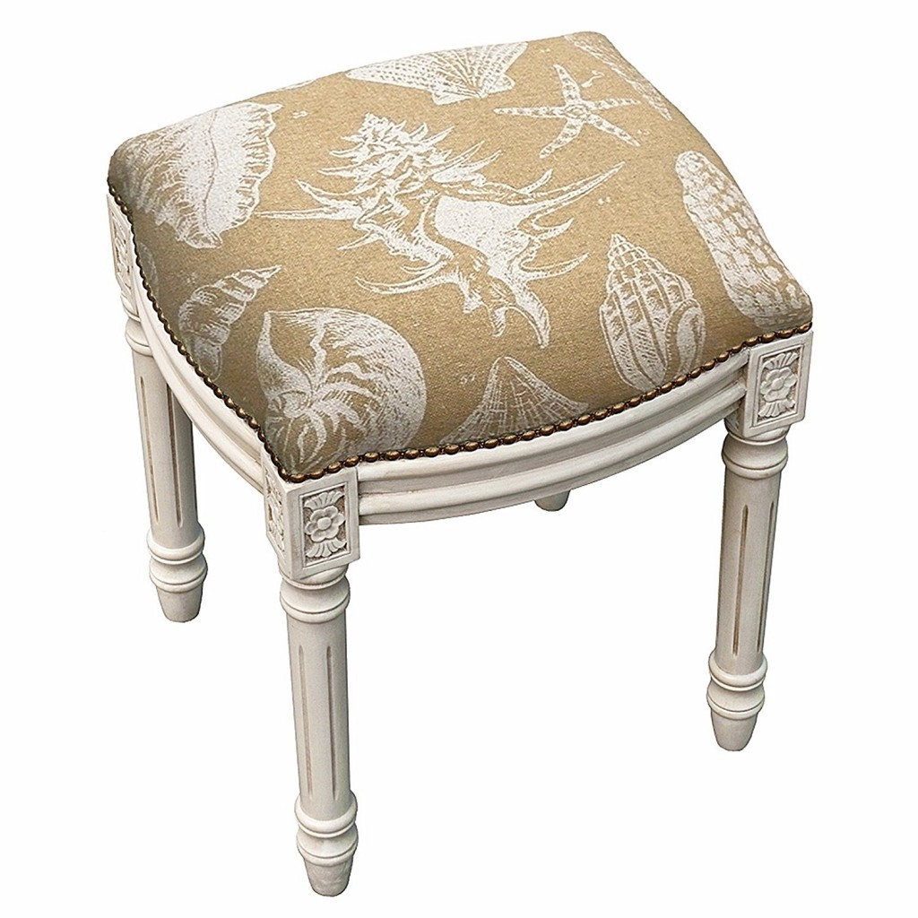 Stool Seashell Upholstered Stool