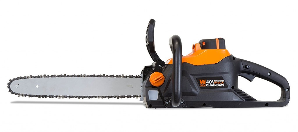 WEN 40417 40V Max Lithium Ion 16 Inch Brushless Chainsaw