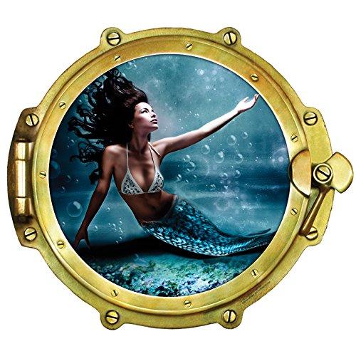 Walls 360 Peel & Stick Wall Decal Window Views Mermaid