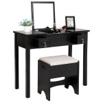 Black Vanity Table