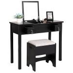 Black Vanity Table