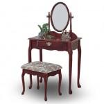 Oak Vanity Set