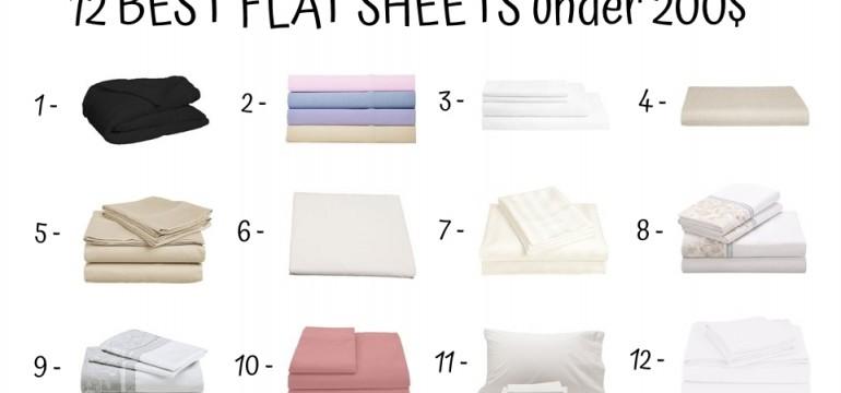 12 Best Flat Sheets Under 200$
