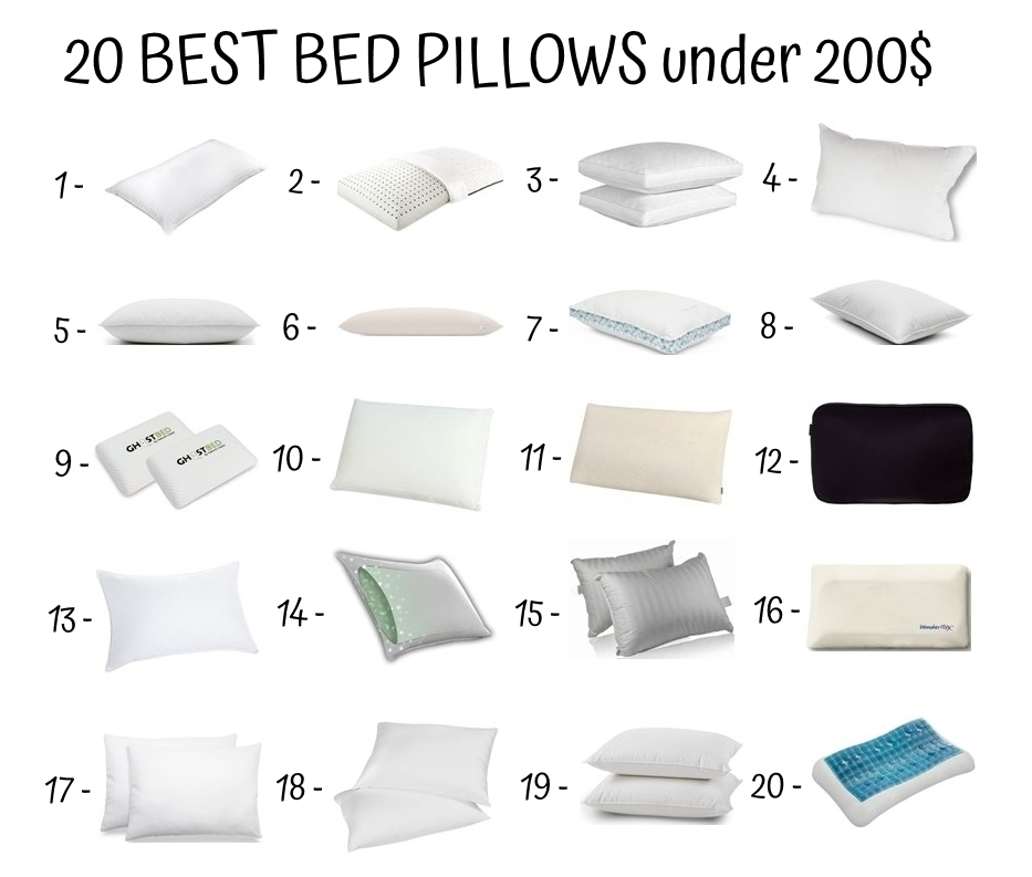 20 Best Bed Pillows Under 200$