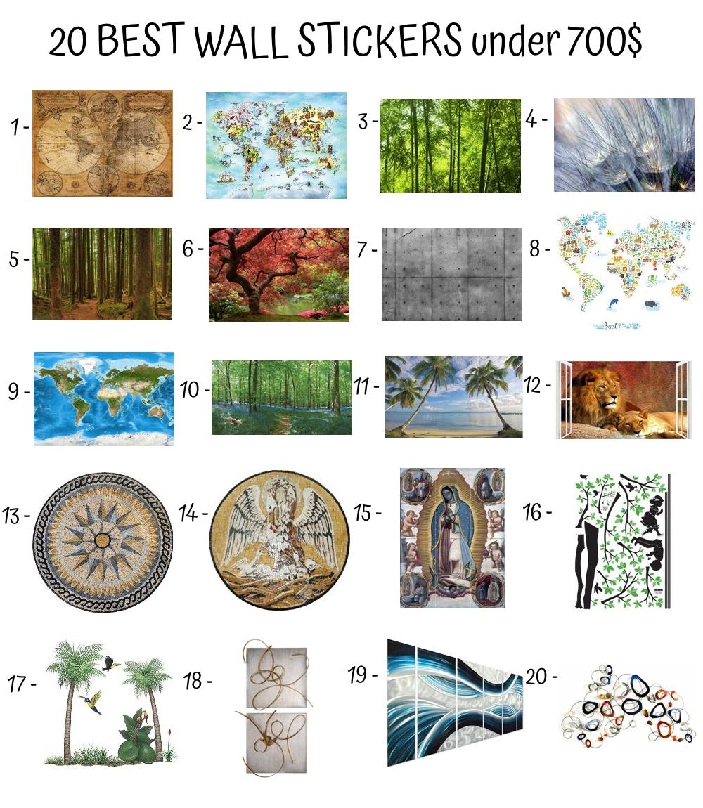 20 Best Wall Stickers Under 700$
